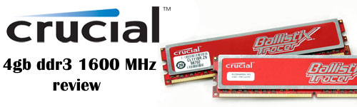 Front Page Crucial Ballistix Tracer 4GB DDR3 Memory Kit Review