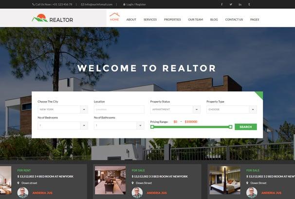 Best WordPress Real Estate Themes 2019 Agencies Realtors Directories