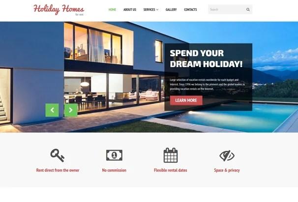 60+ Best HTML Real Estate Website Templates 2017 - property management websites templates