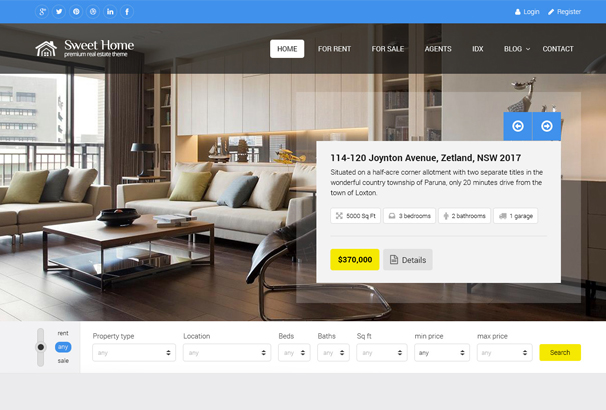 60+ Best HTML Real Estate Website Templates 2019