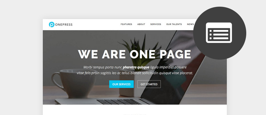 Best Free One Page WordPress Themes 2017 - best free wordpress templates