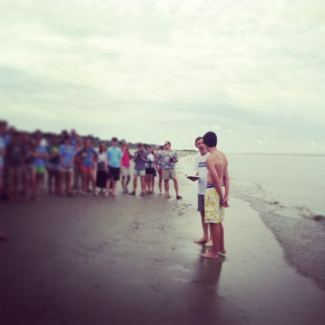 Seaside baptism / Photo by Amy Watson Smith