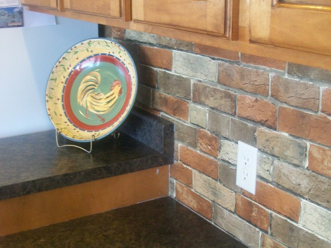 Faux Brick Wallpaper! – Dime and a Prayer