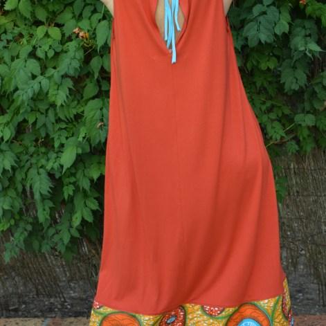 Vestido naranja collar E