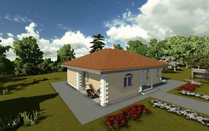 AQ projekat – Prizemna porodična kuća