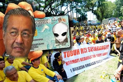 mahathir and sabah IC for votes scam