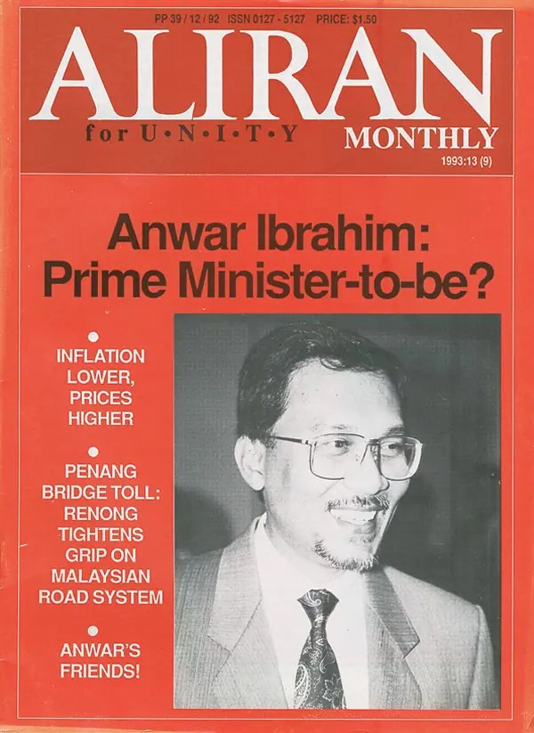 The cover of Aliran Monthly back in 1993: It's been a long journey for Malaysians longing for change
