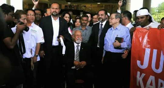 Karpal Singh in court - Photograph: The Malaysian Insider
