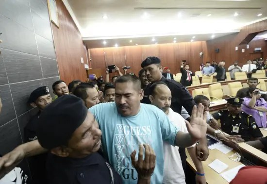Chaos ensued when a group believed to be from Umno Youth and several Malay NGOs makes a forced entry into the state assembly hall - Photograph:  Masry Che Ani/theSun