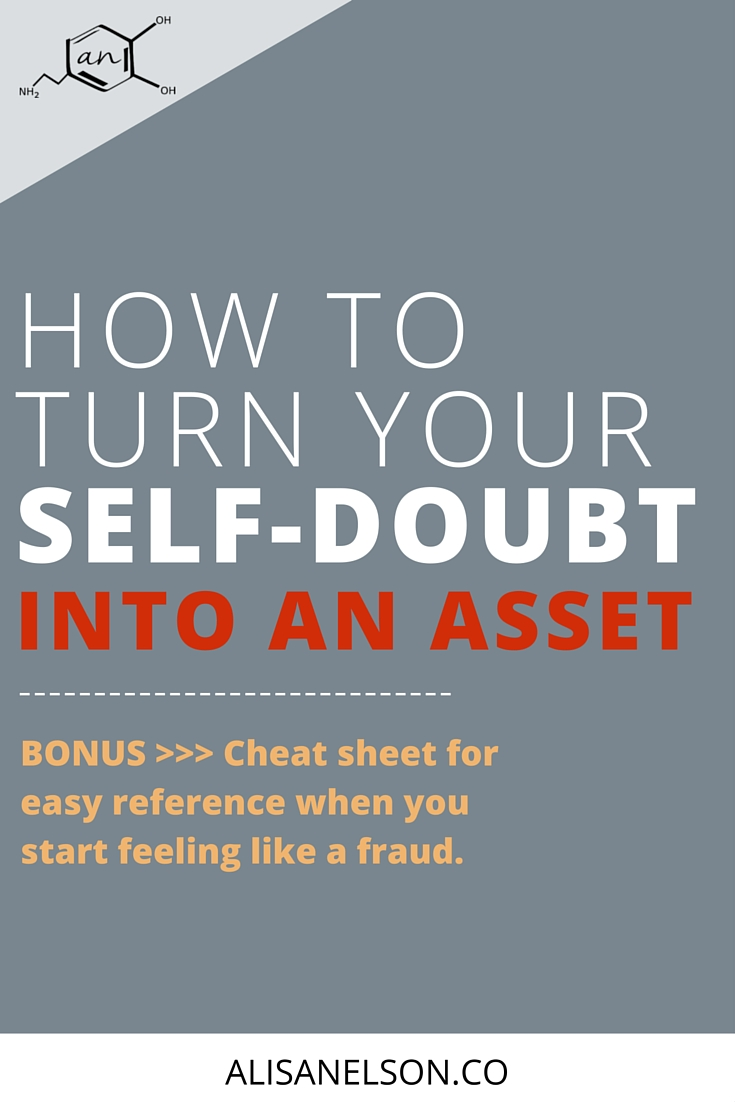 Self-doubt gets a bad rap. But you're the boss of your brain so you get to decide -- will self-doubt crush you? Or will you put in the effort to turn it into an asset? Creatives, bloggers, and business owners rely on creativity + productivity to make a living - unchecked self-doubt derails both. So read on and download the free cheat sheet so you can get started using your self-doubt to your advantage. More at http://alisanelson.co