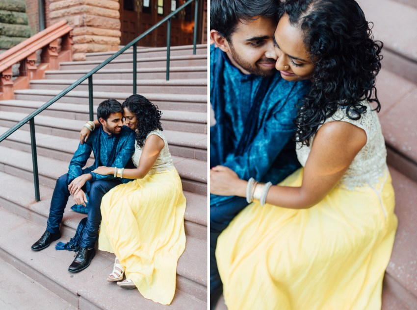 Sheetal + Sushanth - University of Pennsylvania Engagement Session - Alison Dunn Photography photo
