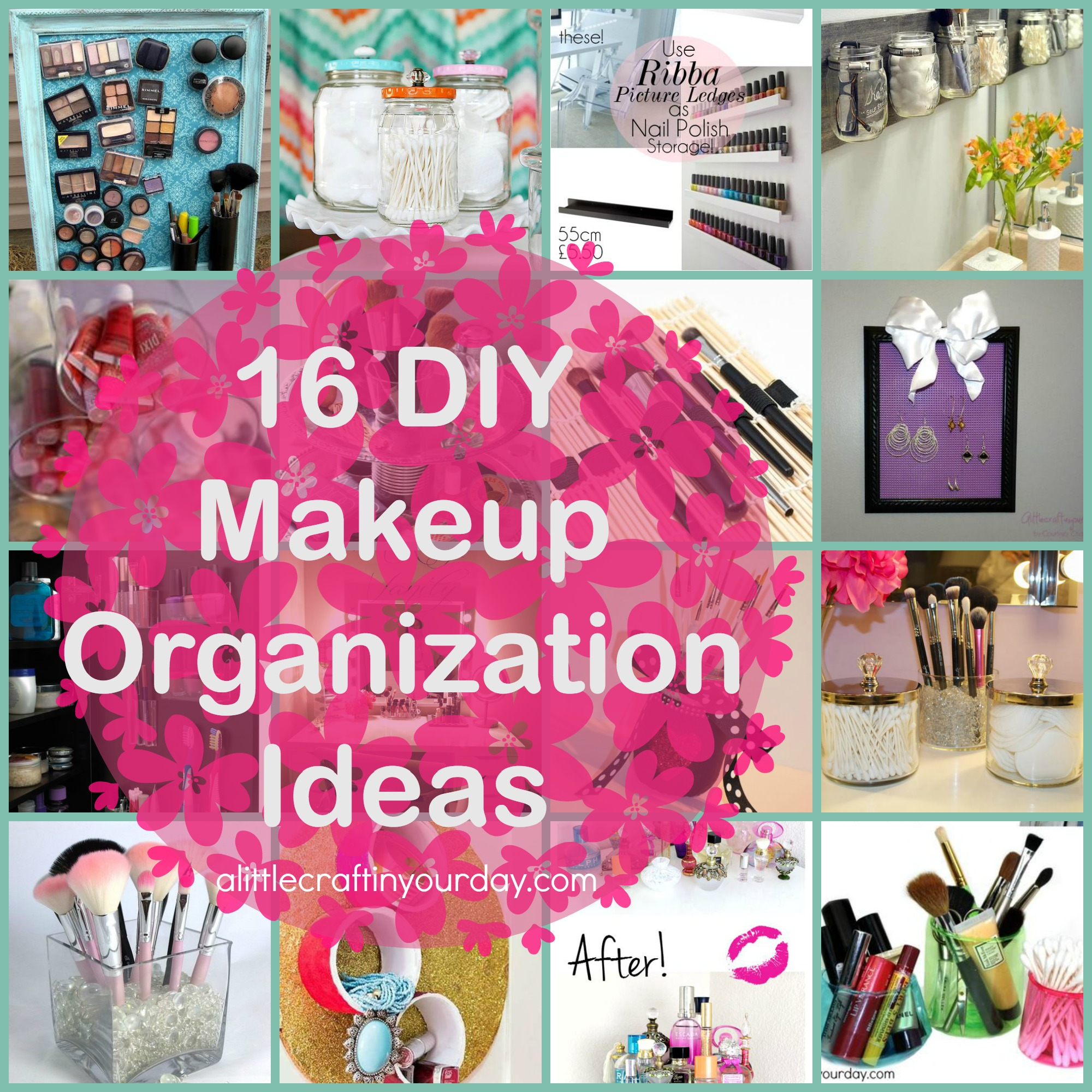 Diy Room Decor And Organization Ideas 16 Diy Makeup Organization Ideas A Little Craft In Your Day