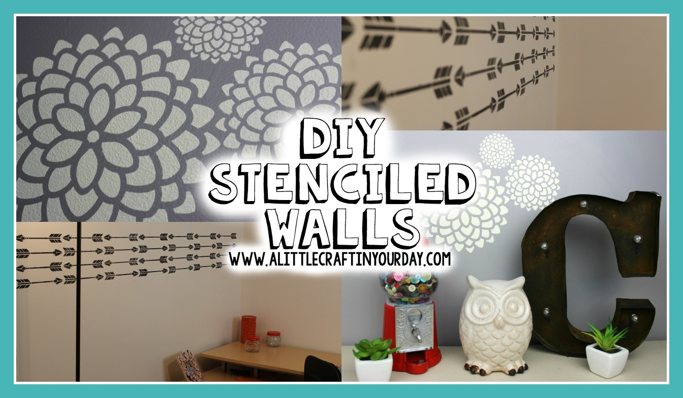 Teenage Girl Wall Decor Ideas Diy Stenciled Walls A Little Craft In Your Day
