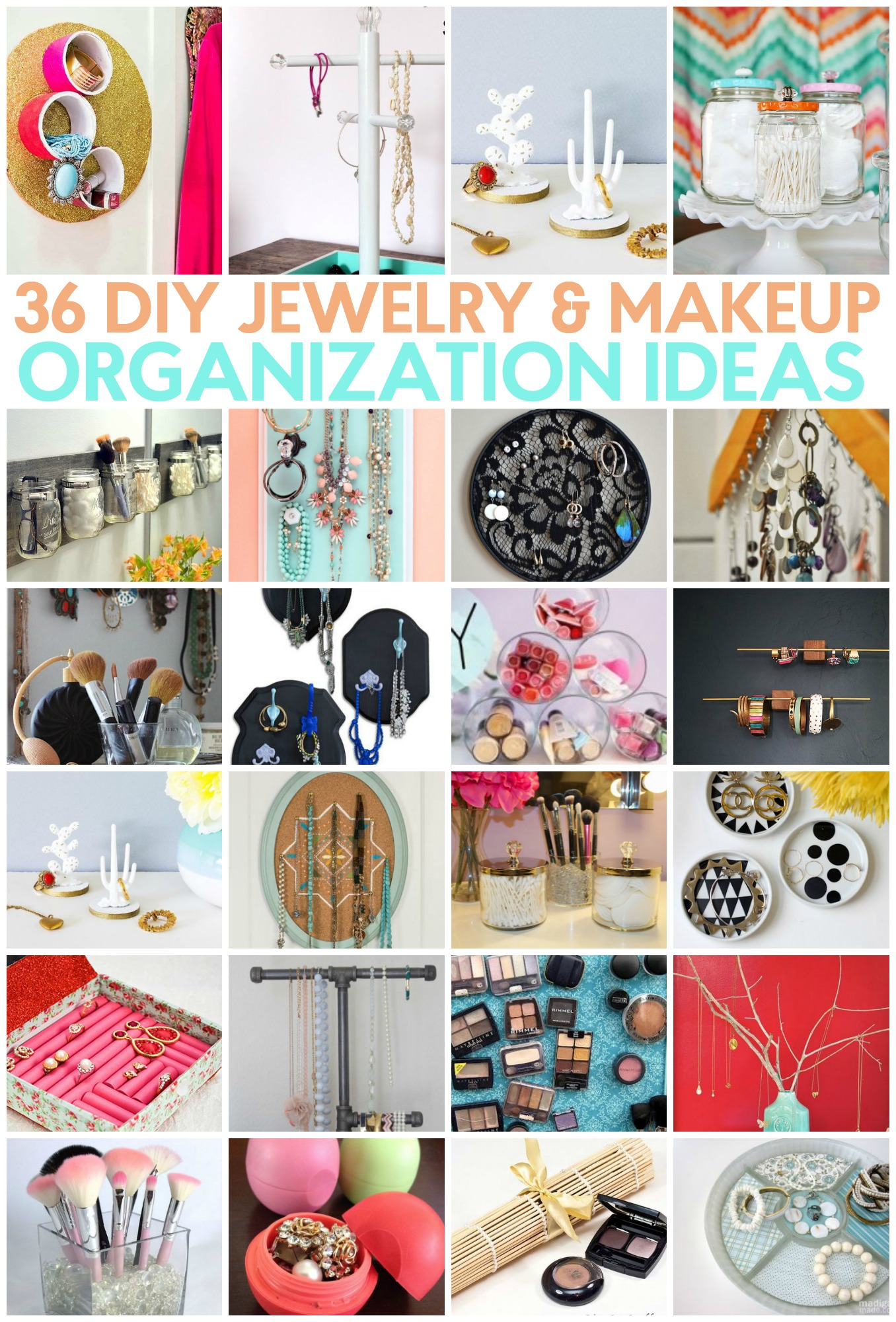 Diy Jewelry Organization Ideas 36 Diy Jewelry And Makeup Organization Ideas A Little Craft In