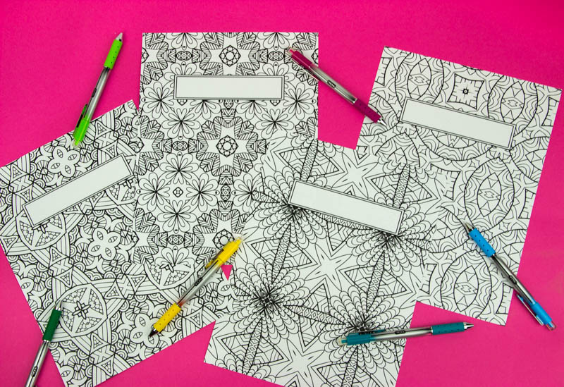 Coloring Book Binder Covers- Free Printable - A Little Craft In Your Day