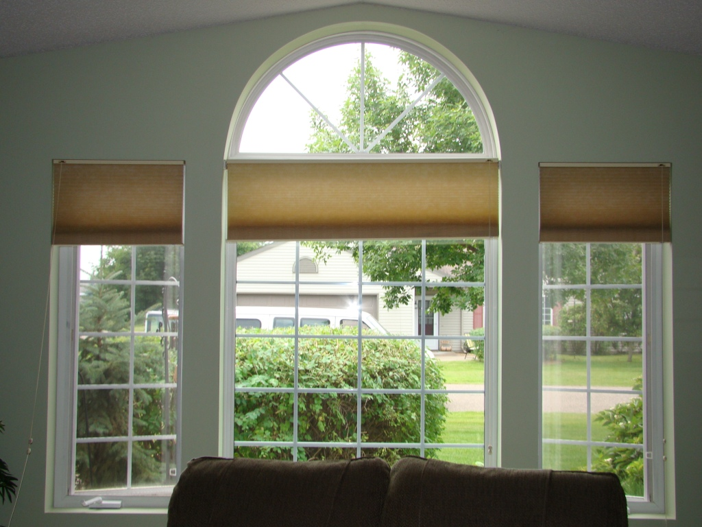 Before and After  Another Way to Treat Arched Windows