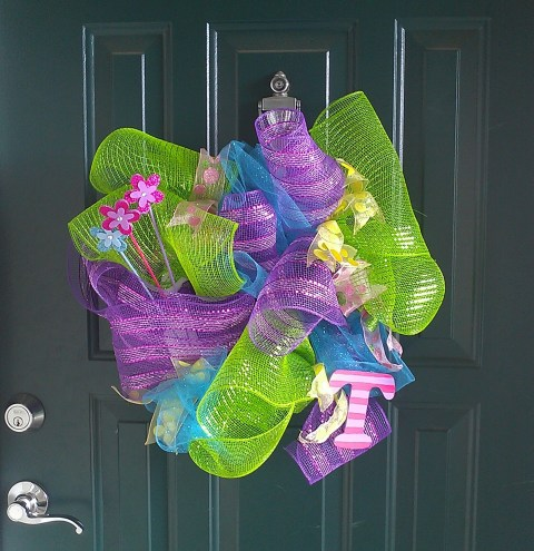 Deco Mesh Easter Wreath Easter Craft Handmade