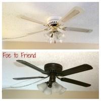DIY Old Ceiling Fan Refresh | alittlehousework
