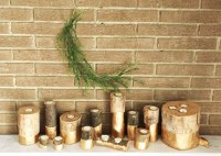 DIY log candle holder - a little kooky