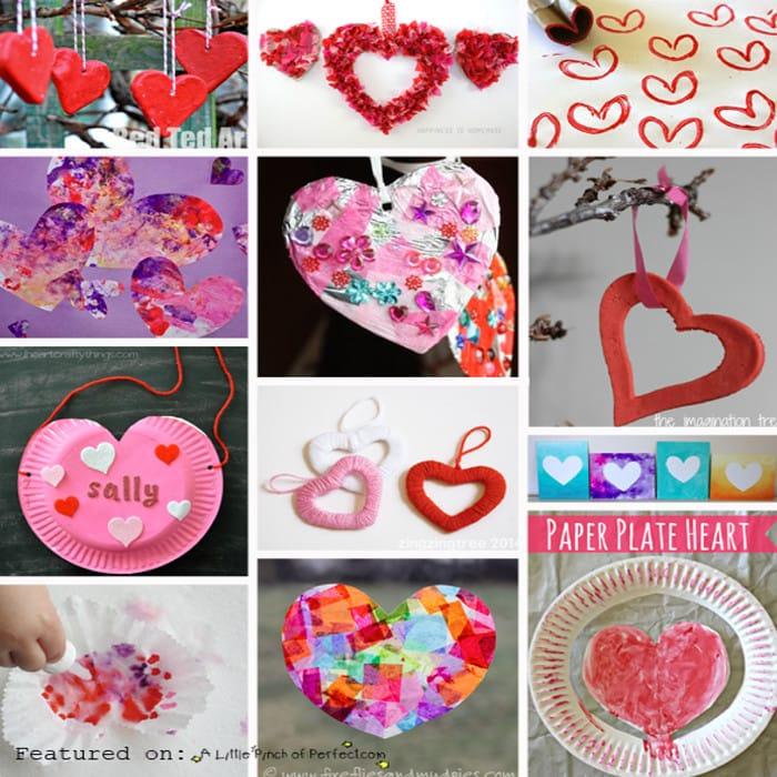 25+ Adorable Valentine\u0027s Day Heart Crafts for Kids -