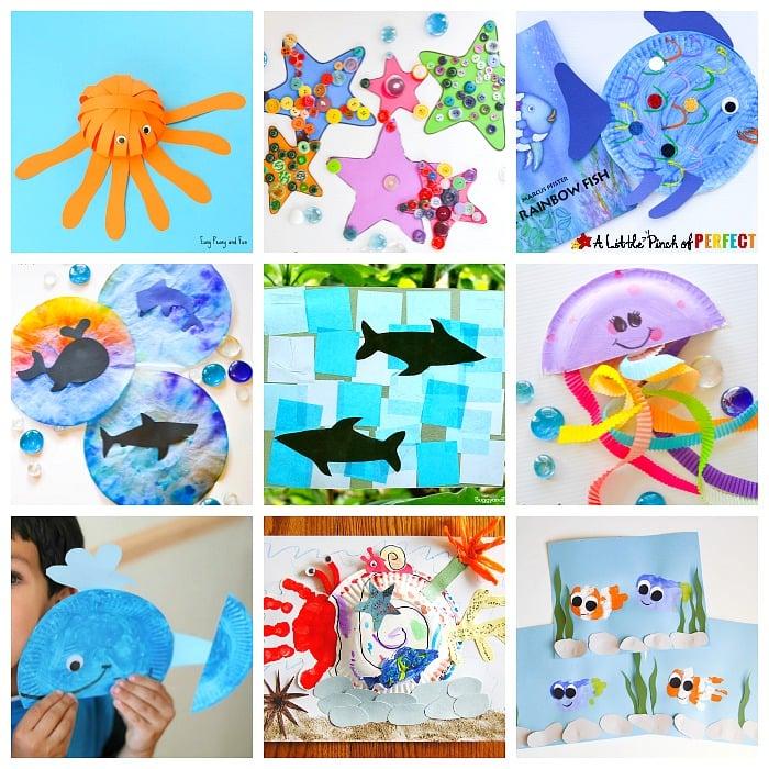 Ocean Activities for Kids - Sensory, Crafts, Printables  Educational -