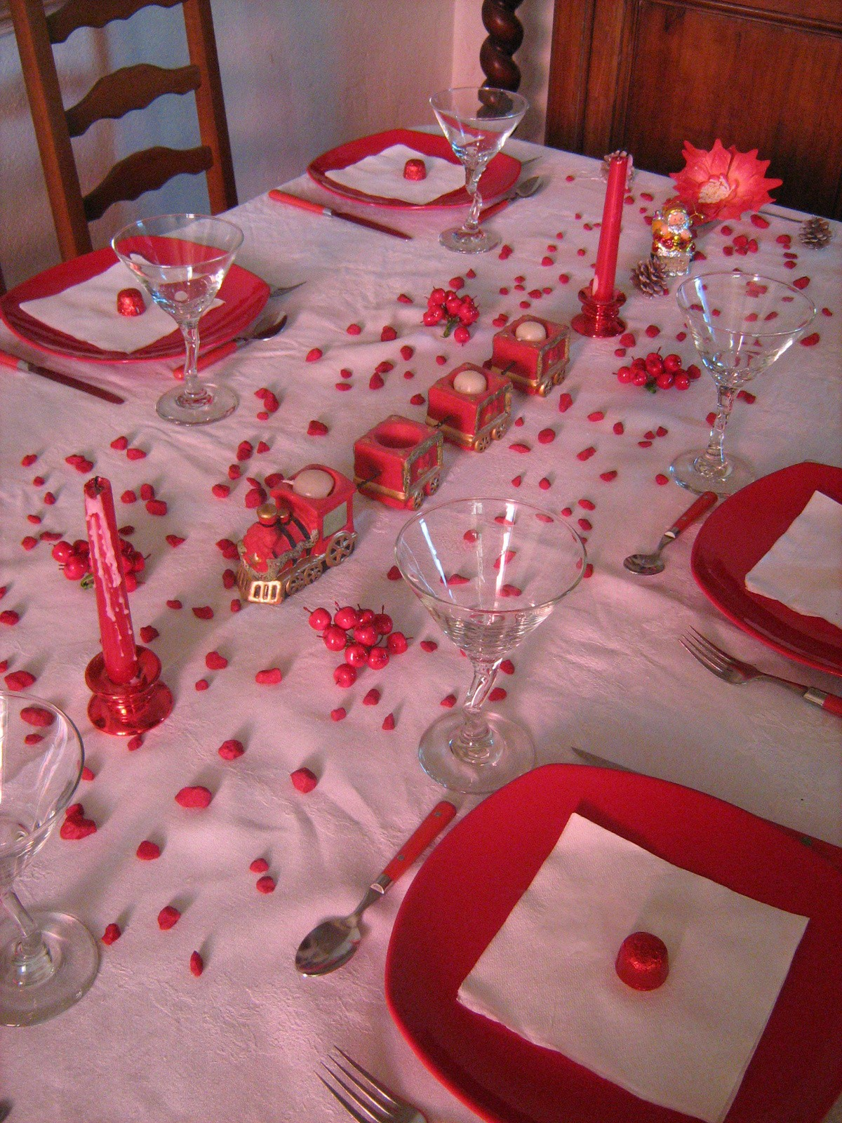 Deco Table Noel Blanc Idee Decoration Table Noel Rouge Et Blanc All Box Fr