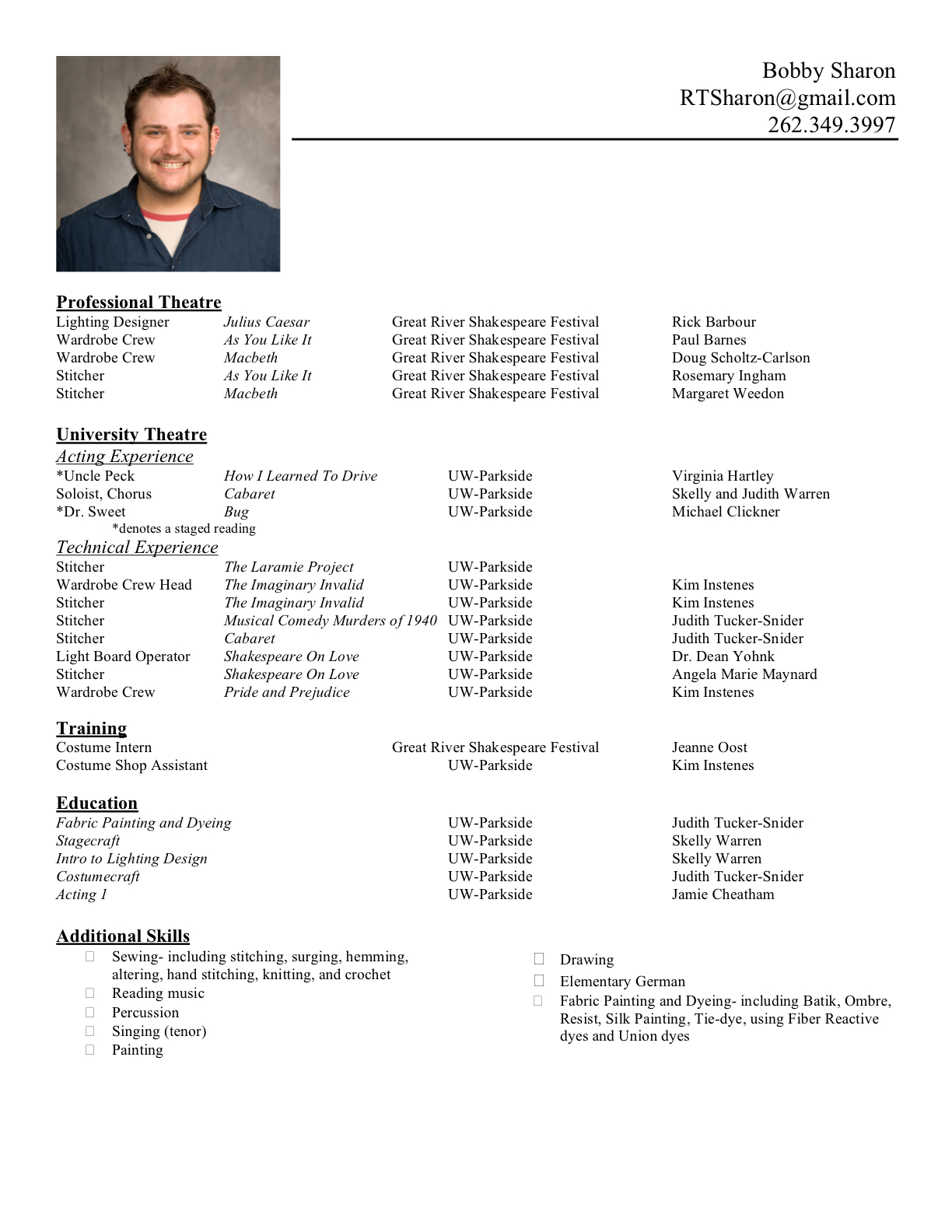 form for resume