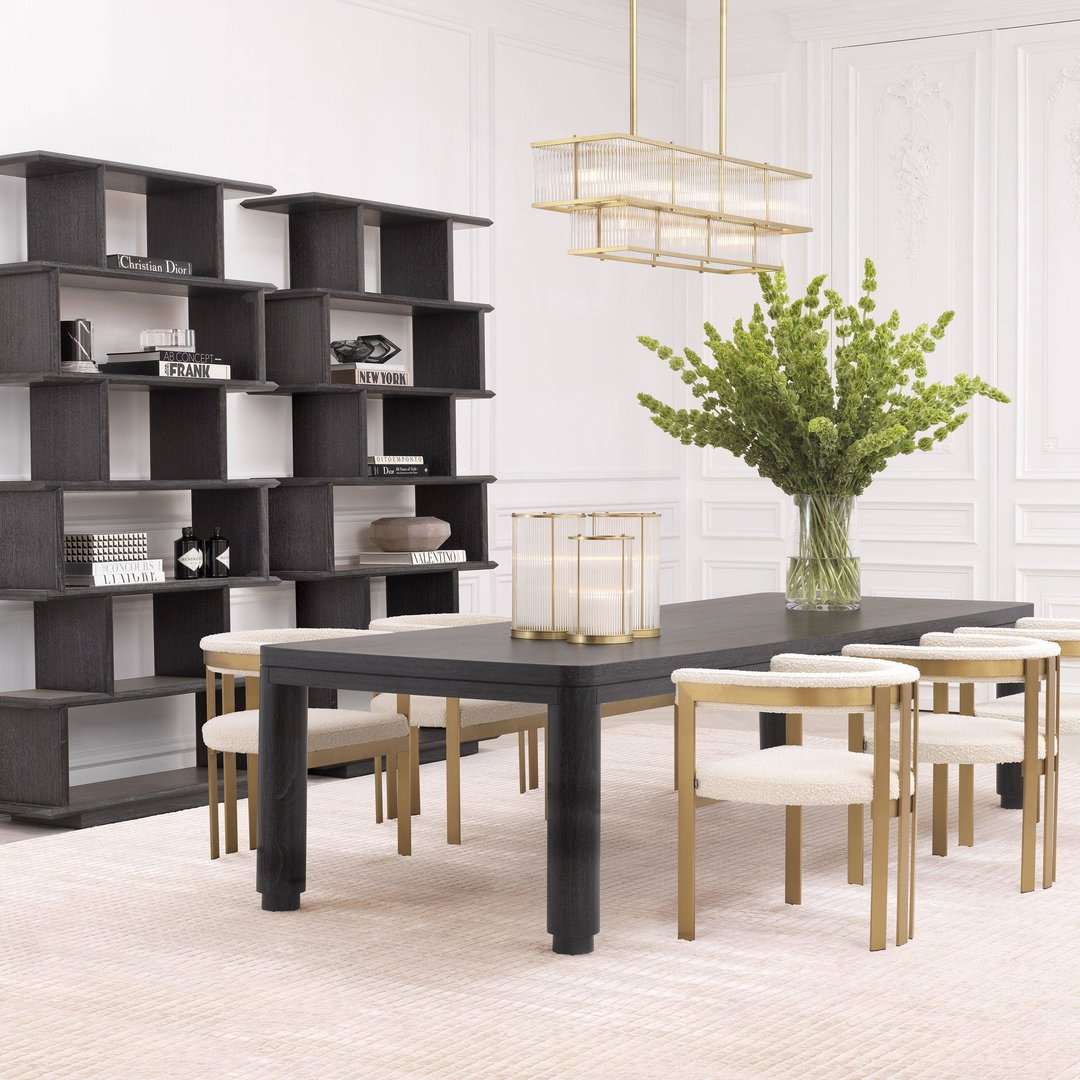 Eichholtz Dining Table Atelier Charcoal Grey Oak Veneer All You Really Need