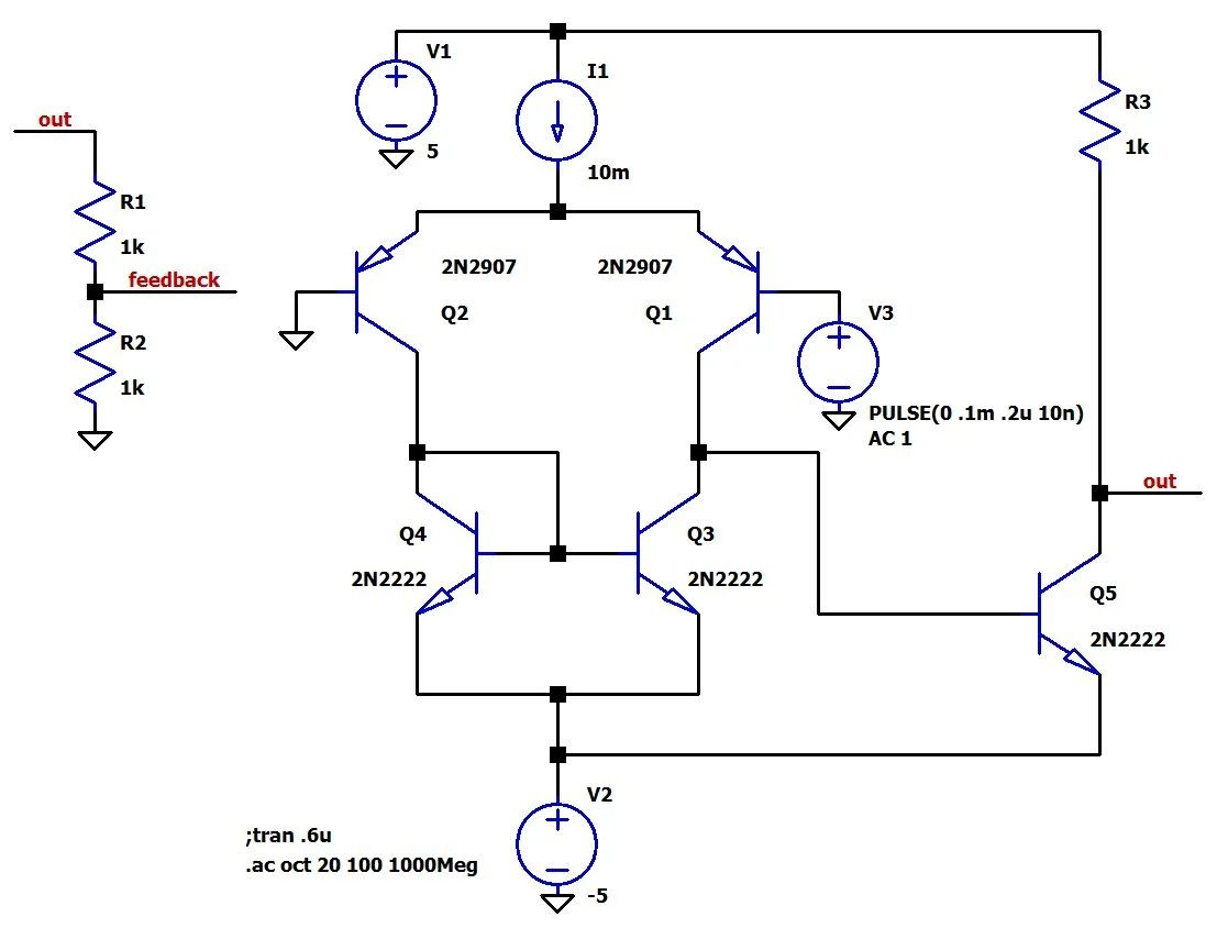 gain determination of amplifier circuit