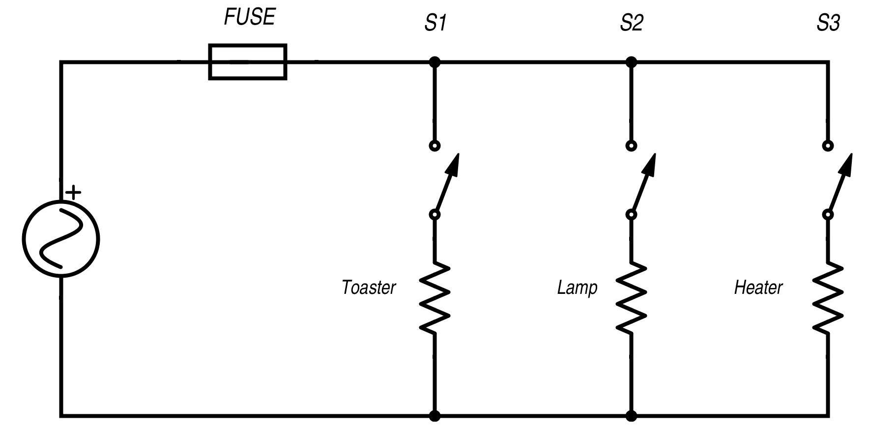house wiring lights in parallel