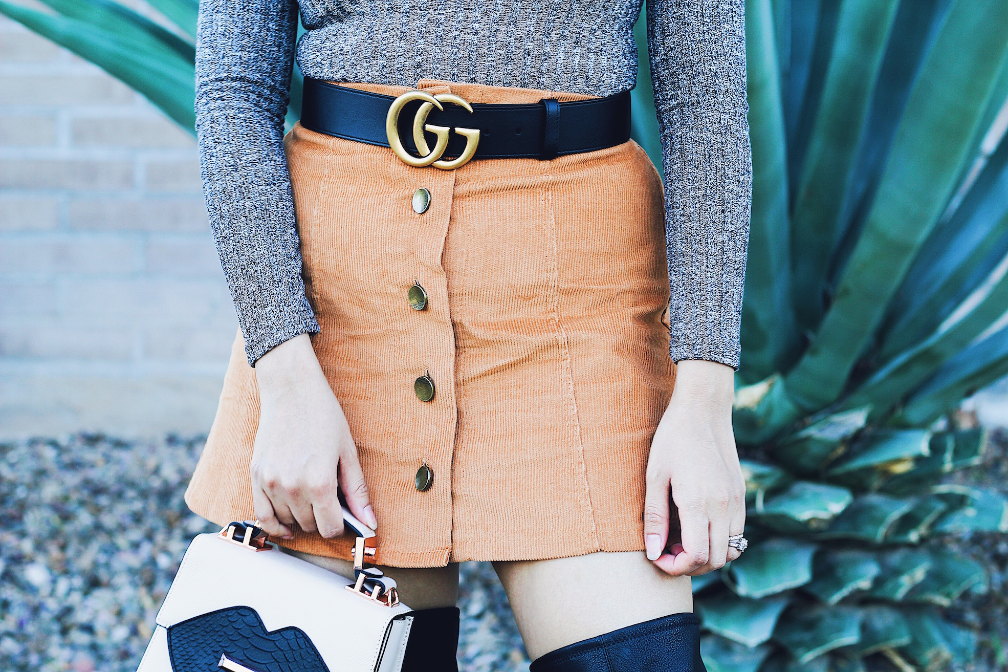 Over The Knee Boots Style Tips And Fall Outfit Idea