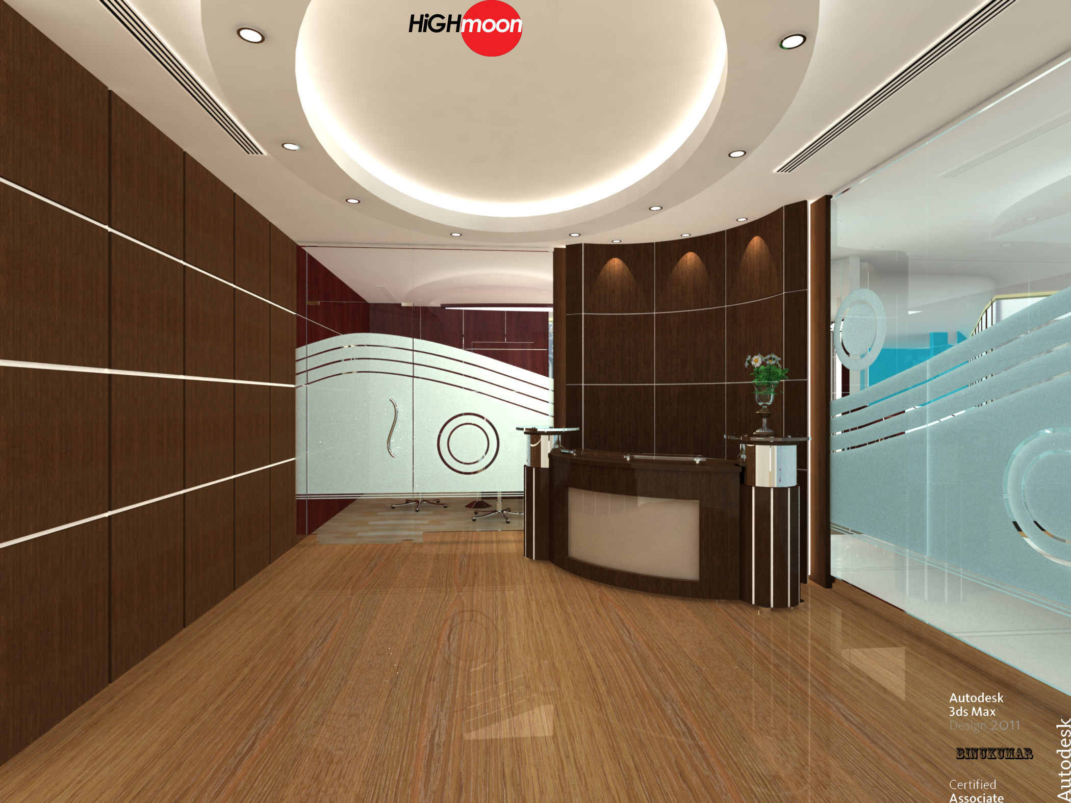 3d Fall Ceiling Wallpaper Office Interior Designing Tips All About Interiors