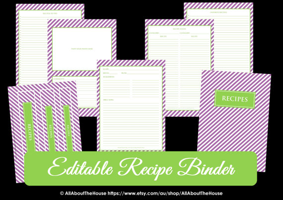 How to organize recipes (plus a FREE Printable Recipe Binder!) - All