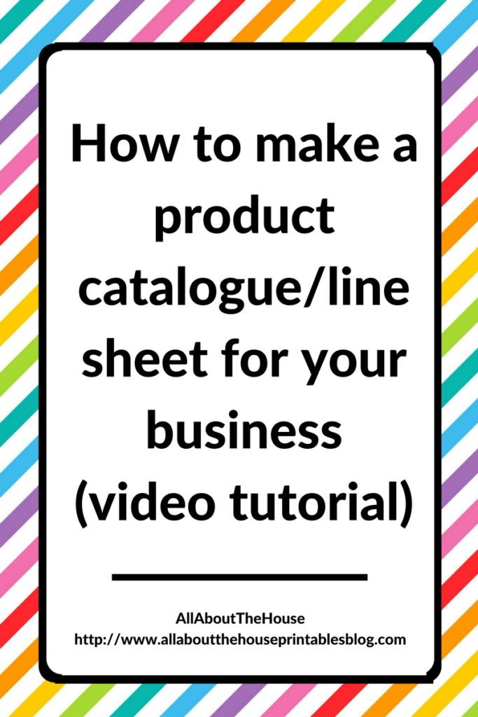 How to make a product catalogue/line sheet for your business