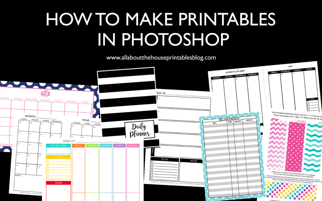 How to make planner printables (advice from a planner addict that\u0027s