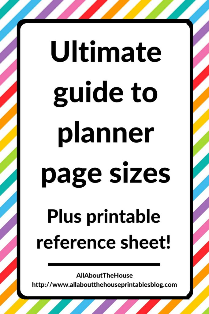 Ultimate planner page size guide (with printable reference cheat