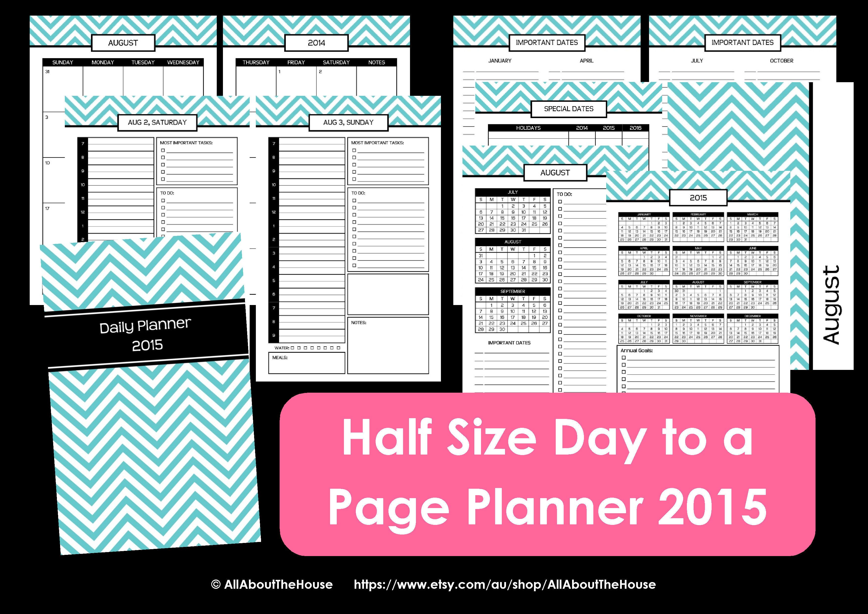 Calendar Planner Pdf : New half size printable planners for allaboutthehouse