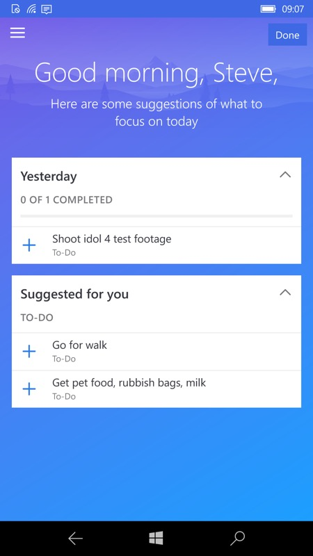 Microsoft To-Do UWP now integrated with Outlook Calendar (for most