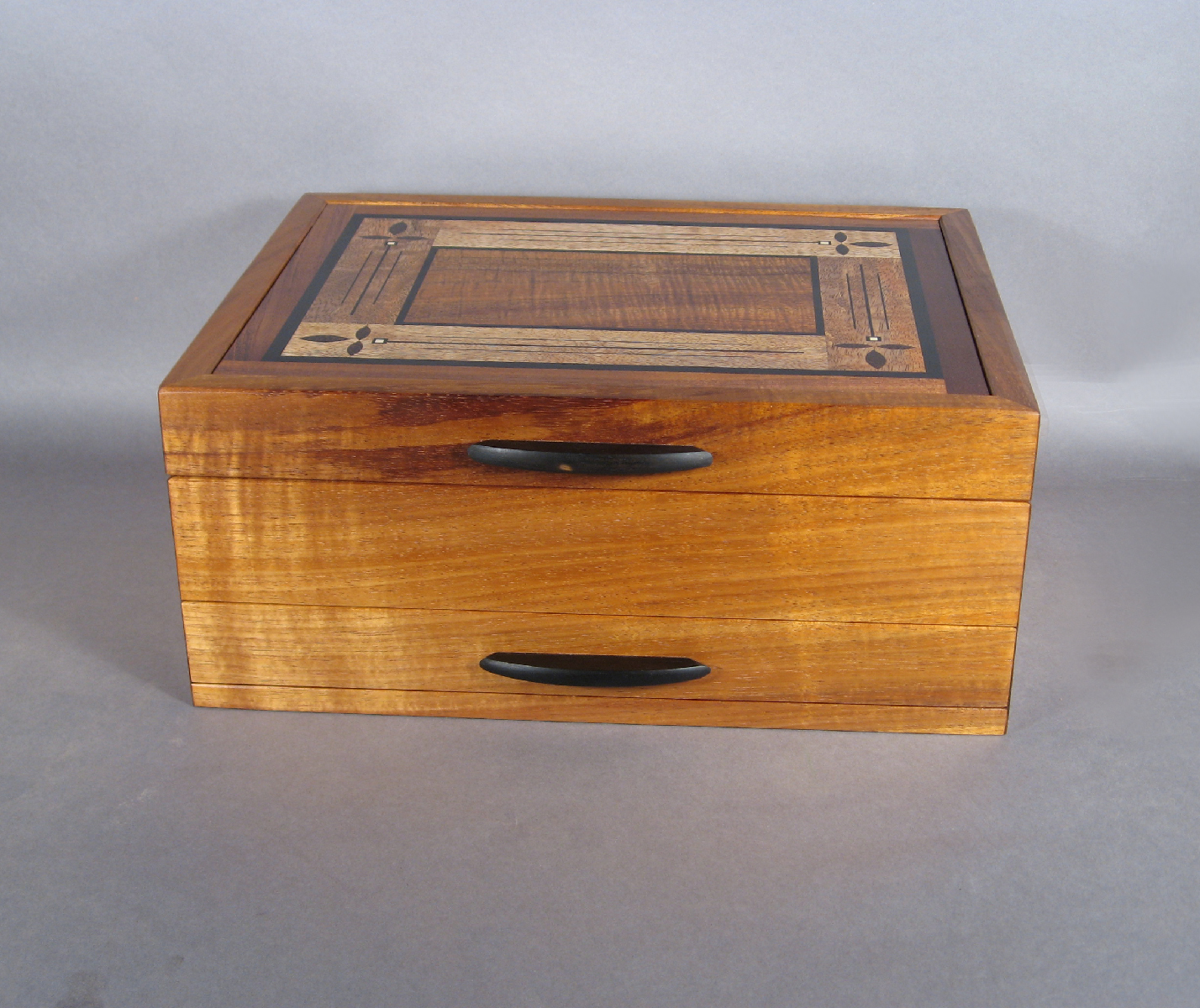 Art Deco Style Jewelry Boxes Koa Jewelry Boxes With Handcrafted Inlay