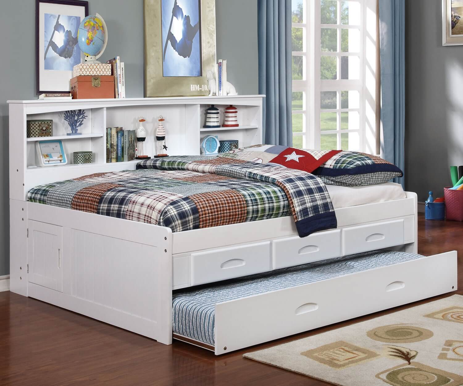 Bookcase Bed White Full Bookcase Daybed