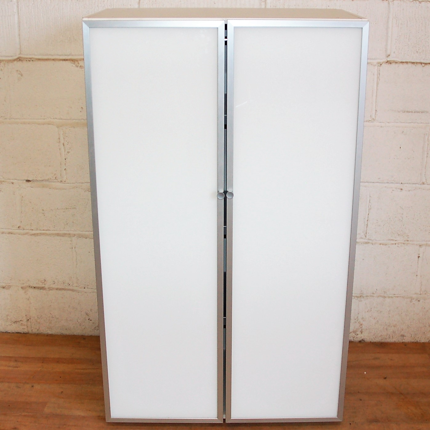 White Cupboard Glass Door Cupboard White Aluminium 5057 Allard Office