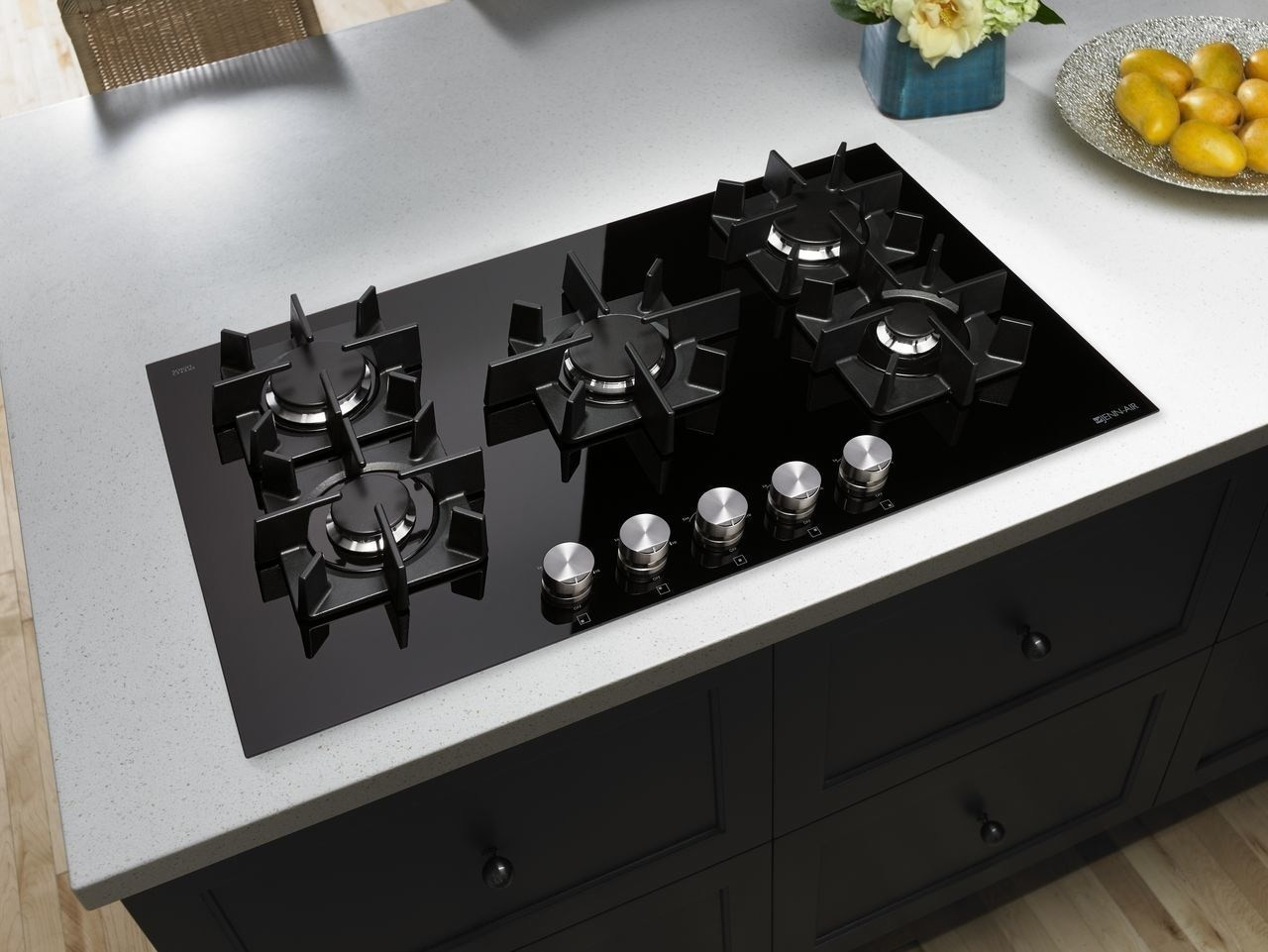 Cooktop Gas Stoves Glass 5 Burner Gas Cooktop All Area Appliance