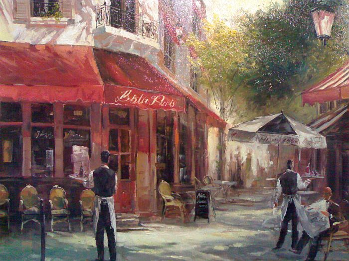 Restaurant Terrasse Montmartre Art Reproductions And Original Oil Paintings Landscapes