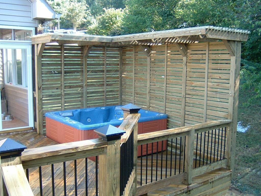 Hot Tub Deck Images Backyard Design Ideas