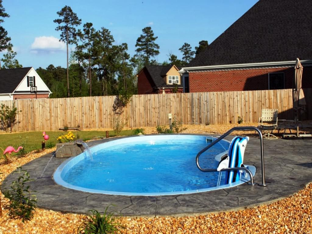 Small Inground Fiberglass Pool Kits Backyard Design Ideas