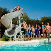 Backyard Pool Water Slide | Backyard Design Ideas