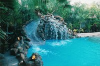 Pools With Waterfalls And Slides | Backyard Design Ideas