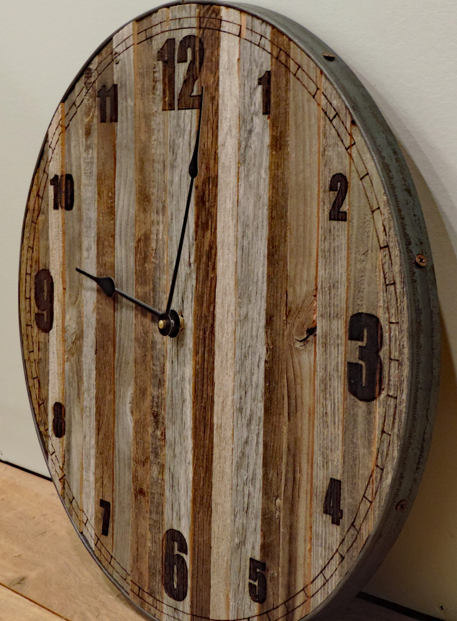 Unique Wall Clocks Cheap 36 Inch Quotpapa Bear Quot Reclaimed Wood Large Rustic Wall Clock