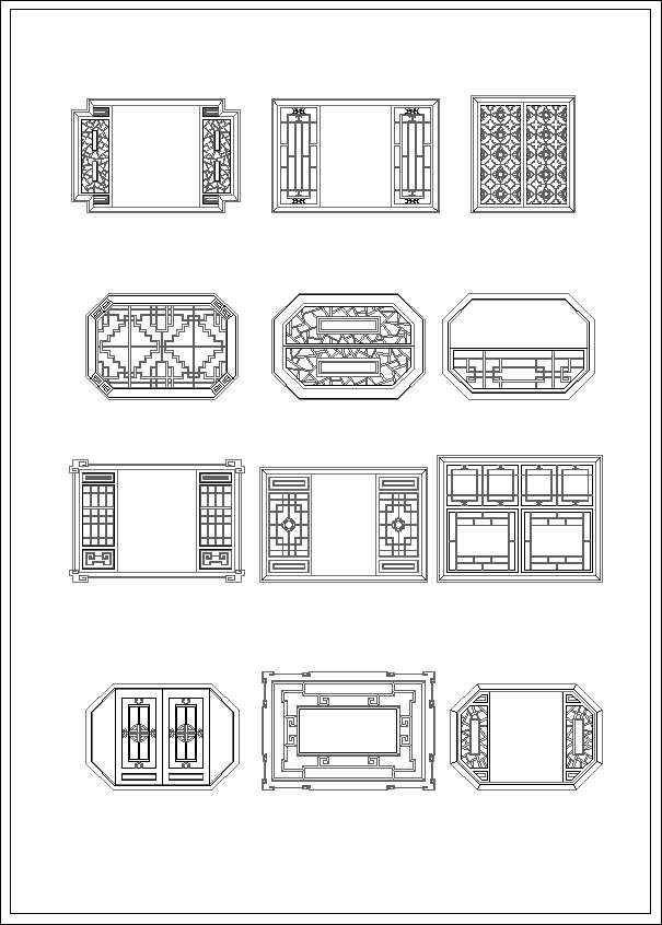 Furniture Cad Online Chinese Window Drawing – Home Designer Shop