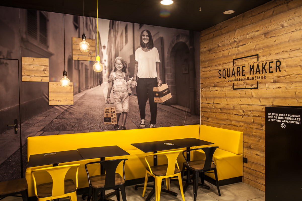Decoration Fast Food Agencement Commercial Restaurant Fast Food Squaremaker